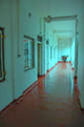 Prowling empty hotel hallways...