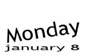 Monday, January 8